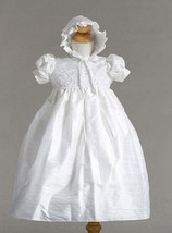 Stunning Shantung Silk Dressy Baby Girl Boutique Christening Holiday Dre... - $62.99