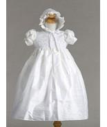 Stunning Shantung Silk Dressy Baby Girl Boutique Christening Holiday Dre... - $62.99