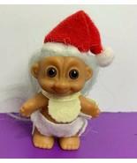 "Russ Baby Troll 2"" Figure Standing Christmas Santa Claus Hat Bib Diaper ... - $12.19"