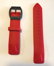 Original Tissot T-Race Touch Red Rubber Band Strap Belt w/ Buckle for T0... - $112.50