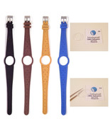 Ladies Watch Strap Band For OMEGA DYNAMIC Leather Replacement Silver Bu... - $18.47+