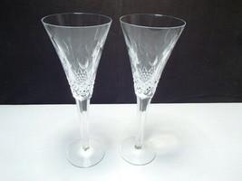 "2 Waterford ""Joy"" Champagne / Toasting Flutes ~ 10 1/8"" ~ celebration line - $39.99"