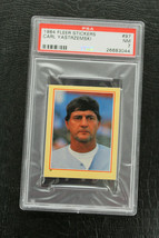 1984 Fleer Sticker Carl Yastrzemski NM PSA7 Red Sox - $20.79