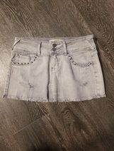 Forever 21 Denim Mini skirt S light Grey - $7.58