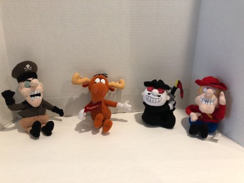 Primary image for CVS Stuffins Bullwinkle Friends Dudley Boris Fearless Leader Lot Of 4 Plush