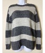 American Eagle Womens Size XS Gray Striped Sweater Jegging Fit Long Sleeve  - $14.85