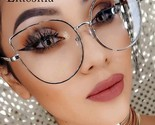 Emosnia Clear Lens Oversized Sun Glasses Women Spectacle Men Gold Frame Rimmed O