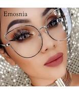 Emosnia Clear Lens Oversized Sun Glasses Women Spectacle Men Gold Frame Rimmed O - €14,30 EUR