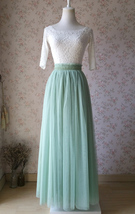 SAGE GREEN Long Maxi Tulle Skirt Full Length Sage Green Wedding Bridesmaid Skirt image 2
