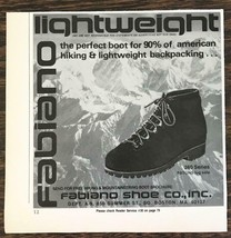 1977 Fabiano 360 Series Lightweight Hiking Backpacking Boots Print Ad - $8.95