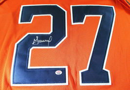 JOSE ALTUVE / AUTOGRAPHED HOUSTON ASTROS ORANGE PRO STYLE BASEBALL JERSEY / COA image 3