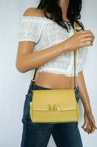 NWT MICHAEL KORS MONTGOMERY SMALL LEATHER CROSSBODY BAG YELLOW DUSTY DAISY  - $69.29