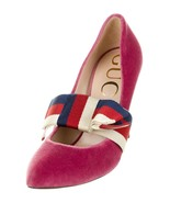 M-37200 New Gucci Sylvie Web Accent Pointed Toe D'Orsay Pumps Size 36.5 ... - $387.99