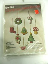 "Vintage Bucilla Christmas Needlecraft ""Jeweled Holiday Mini Ornaments"" F... - $19.99"