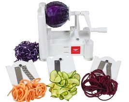 Tri-Blade Spiralizer Vegetable Spiral Slicer Shredder Cutter with Three ... - €29,63 EUR