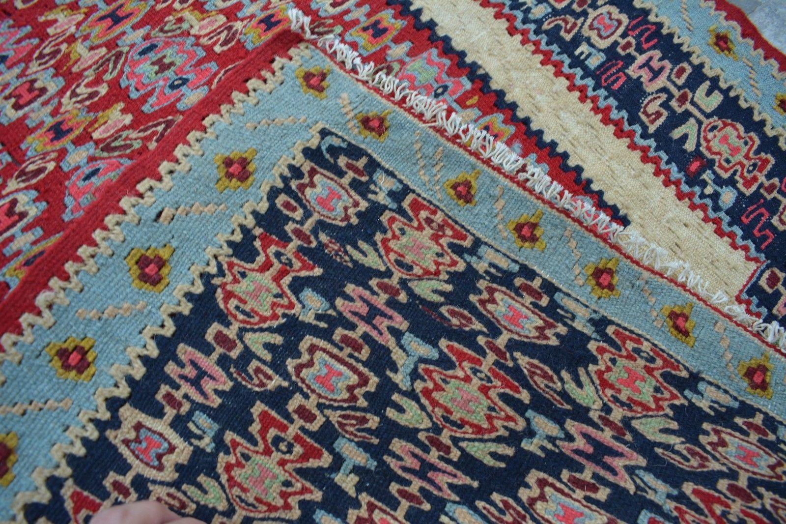 2'6 x 3'5 Ft handwoven persian tribal senneh kilim antique turkish kurdish kilem