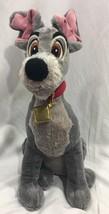 "Disney Store Lady and the Tramp Large 16"" Soft Plush Gray Puppy Dog EUC - $13.54"