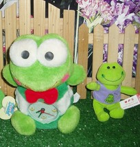 "PLUSH FROG CLOCK - STUFFY - 5"" TALL  & BUILD A BEAR FROG - $7.99"