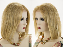 Medium Premium Remy Human Hair Lace Front Blonde Brunette Red Straight Wigs  - $249.99