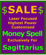 5x100 Billionaire Wealth Spell Money Ritual for Sagittarius Betweenallwo... - $129.50