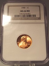 1980 Lincoln Memorial Penny NGC MS 66 RD #G003 - $27.99