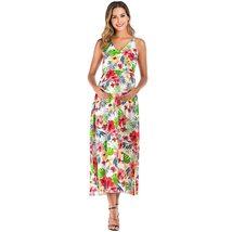 Maternity's Dress V Neck Floral Print Long Slip Dress image 2