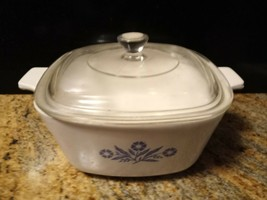 Vintage Corning Ware Pastel Bouquet A-3-B  3 Liter Casserole Dish With Glass Lid - $34.65