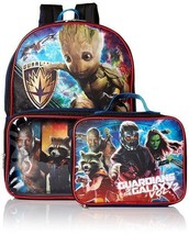 NEW Boys Guardians of the Galaxy Backpack with Lunch Bag Box Groot Star ... - $12.99