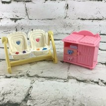 Fisher Price Loving Family Twin Time Nursery Lot Swing And Changing Table - $16.82