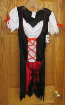 Sexy Pretty Pirate Womens Halloween Costume Dress One Size Red Black NOS - $13.16