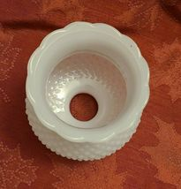 "Vintage 5-1/4"" Deep White Milk Glass Hobnail Lamp Shade Globe 1-5/8'' Fitter  image 5"