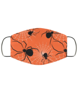 Face Mask Halloween Spooky Spiders and Webs Black Widow Scary 2 Ply Ligh... - $13.95