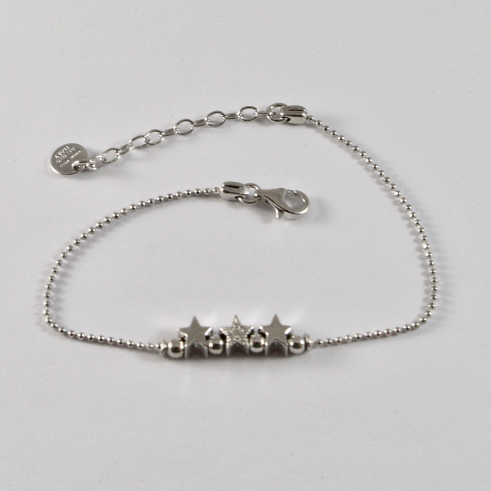 SILVER 925 BRACELET JACK&CO STARS, BALLS FACETED AND ZIRCONS JCB0783
