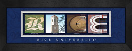 Rice University Officially Licensed Framed Campus Letter Art - $39.95