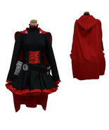 RWBY Ruby Rose Fancy Red Dress & Cloak Cosplay Costume Halloween party - $83.42