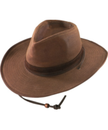 Henschel Waxed Cotton Walker Shapeable WIde Brim Leather Band Bungee Cor... - $60.00+