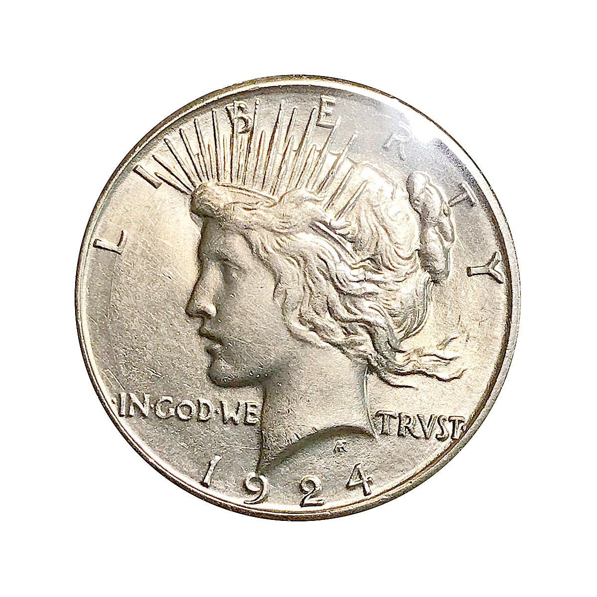 1924 S Peace Silver Dollar - AU / Almost Uncirculated - Better Grade