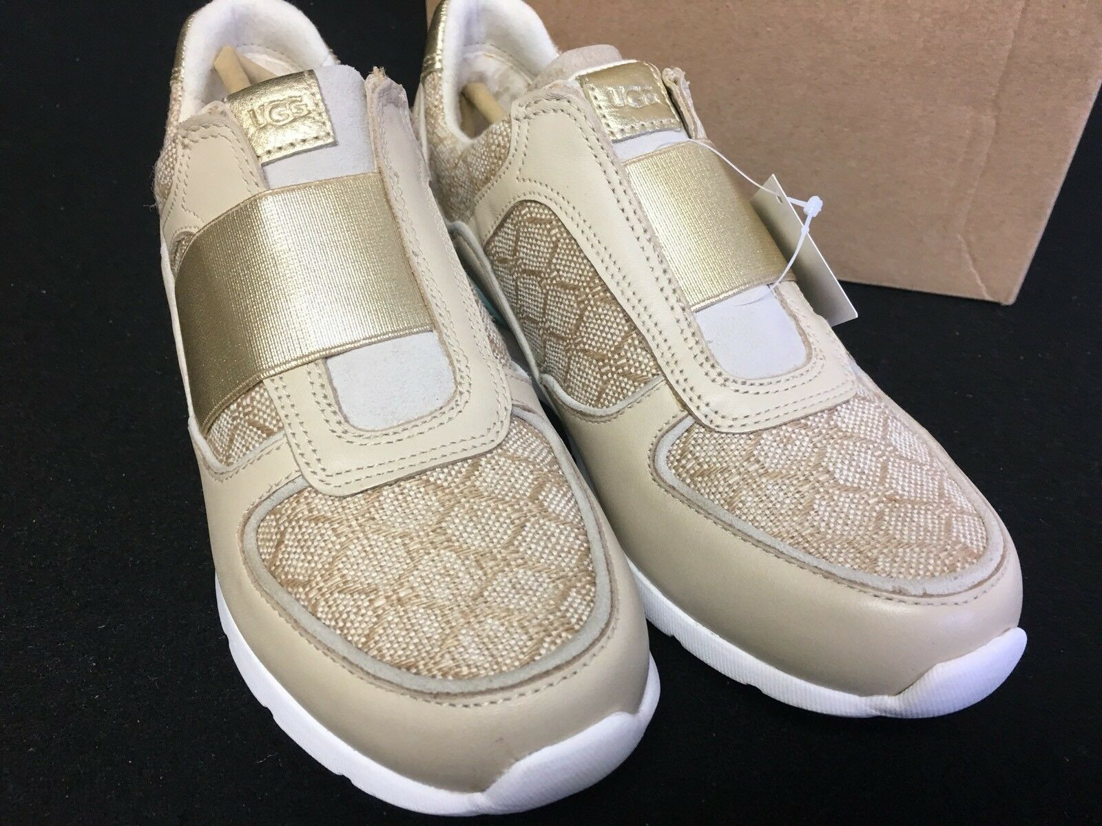 UGG Annetta Slip-On Sneaker Women Trainers Athletic Fashion Shoes 1012180 Buff