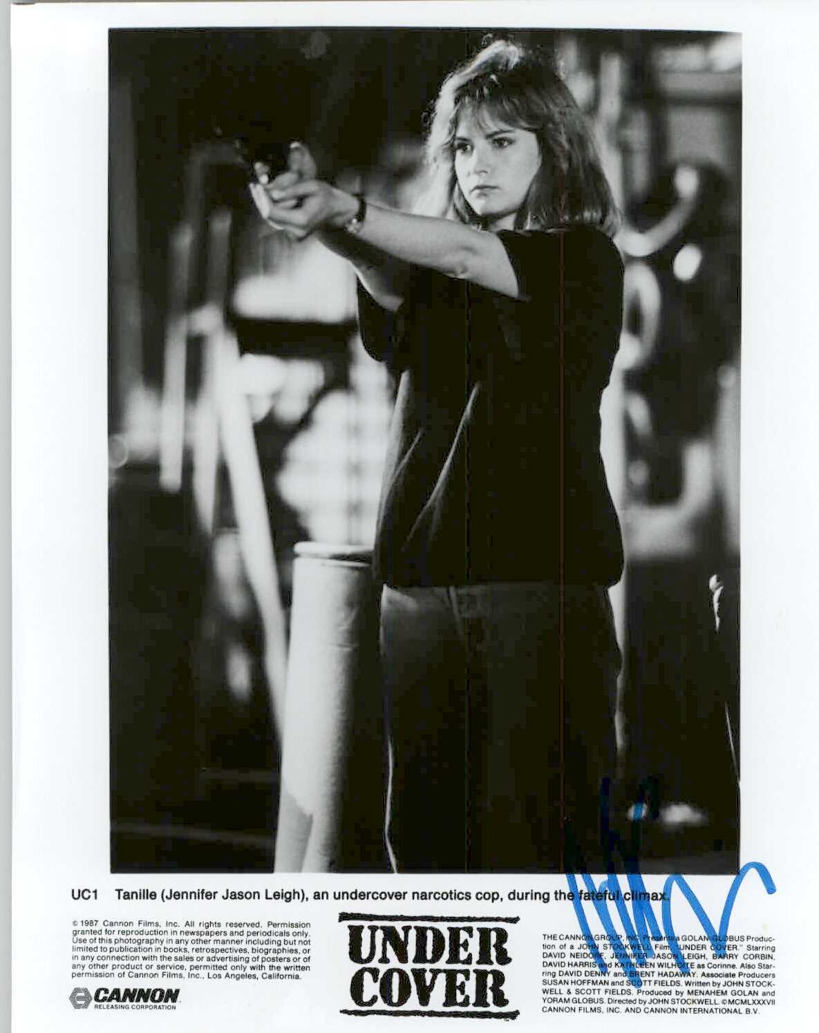 "Primary image for Jennifer Jason Leigh Signed Autographed ""Under Cover"" Glossy 8x10 Photo"