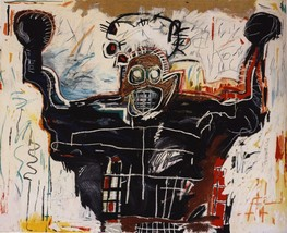 """Jean-Michel Basquiat """"Boxer"""" HD print on canvas huge wall picture 28x24"""" - $29.69"""