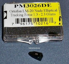 NUDE DIAMOND NEEDLE STYLUS for ORTOFON CONCORDE LM-20 STY-10 OM SERIES image 1