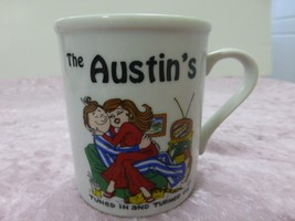 """Vintage Coffee Mug Cup by Papel 1976 """"The Austin's Tuned in & Turned on - $18.75"""