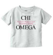 Chi Omega College Sorority Letters Greek Gift Girls Toddler T Shirt Tees... - $9.99