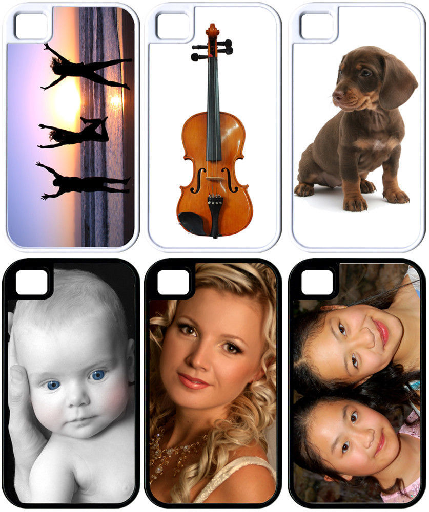 Primary image for Personalized iPhone 4/4s/5/5s Custom Photo Hybrid Hard Plastic/RUBBER Cover