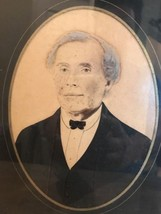 Early American Portrait Photograph Partially Pa... - $51.08