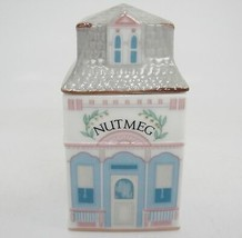 Lenox Spice Village Nutmeg Jar Figural Porcelain House 1989 Replacement ... - $14.84