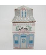 Lenox Spice Village Nutmeg Jar Figural Porcelain House 1989 Replacement Nice - $14.84