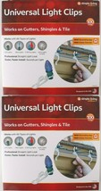 2x 100ct Simple Living Innovations Universel Noël Clair Gouttière Clips ... - $9.94