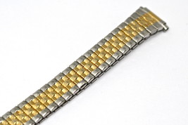 Speidel 11-14MM Extra Long Two Tone Tapered Expansion Watch Band Strap - $19.79