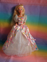 Vintage 1996 Prettiest Present Blonde Birthday Barbie Doll - as is  - $10.15